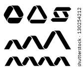 vector black ribbon symbols | Shutterstock .eps vector #130254212