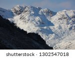 snow and blue shadows on... | Shutterstock . vector #1302547018