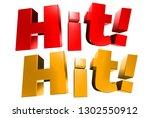 hit 3d hit  white background. | Shutterstock . vector #1302550912