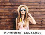 cool hipster student woman... | Shutterstock . vector #1302552598