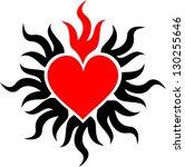 sacred heart   flame   vector...   Shutterstock .eps vector #130255646