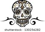 mexican skull   flower ornament ...   Shutterstock .eps vector #130256282