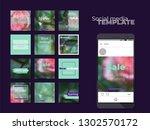 social media photo frames... | Shutterstock .eps vector #1302570172