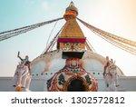 buddhist religion monastry | Shutterstock . vector #1302572812