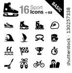 basic   sport icons | Shutterstock .eps vector #130257338
