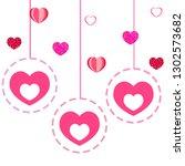 valentine's day  heart ... | Shutterstock .eps vector #1302573682