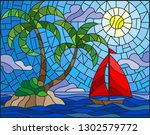 illustration in stained glass... | Shutterstock .eps vector #1302579772