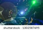 abstract space background  ... | Shutterstock . vector #1302587695