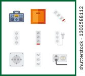 9 switch icon. vector... | Shutterstock .eps vector #1302588112