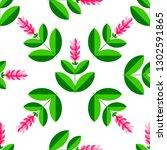 turmeric  curcuma plant with a... | Shutterstock .eps vector #1302591865