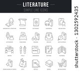 set of linear icons of... | Shutterstock .eps vector #1302592435