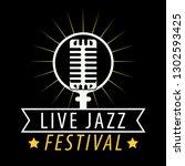 jazz musical art poster ... | Shutterstock . vector #1302593425
