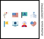 8 government icon. vector...   Shutterstock .eps vector #1302595942