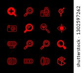 zoom icons set with zoom in ... | Shutterstock .eps vector #1302597262