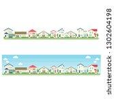 residential area illustration... | Shutterstock .eps vector #1302604198