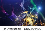 abstract space background  ... | Shutterstock . vector #1302604402