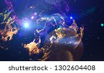 abstract space background  ... | Shutterstock . vector #1302604408