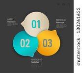 web template. vector... | Shutterstock .eps vector #130261622