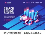 vector concept with search... | Shutterstock .eps vector #1302623662