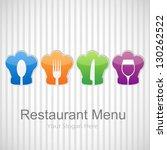 vector restaurant menu... | Shutterstock .eps vector #130262522