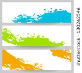 banners with colorful paint... | Shutterstock .eps vector #130262546