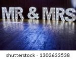Small photo of Mr and Mrs / Mr & Mrs Wedding Sign