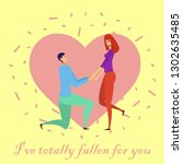 greeting card with lovers.... | Shutterstock .eps vector #1302635485