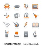 education icons    graphite... | Shutterstock .eps vector #130263866