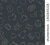 seamless pattern from a set of... | Shutterstock . vector #1302655228