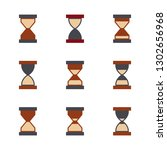 hourglass icon set isolated on... | Shutterstock . vector #1302656968