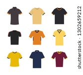 set of sport t shirts isolated... | Shutterstock . vector #1302659212