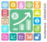 bitcoin icons set. illustration ... | Shutterstock .eps vector #1302665122