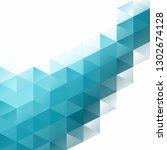 blue grid mosaic background ...   Shutterstock .eps vector #1302674128