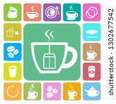 coffee cup and tea cup icon set.... | Shutterstock .eps vector #1302677542