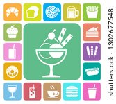 fast food and dessert icon set... | Shutterstock .eps vector #1302677548
