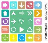 basic arrow sign icons set... | Shutterstock .eps vector #1302677998