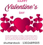 happy valentine day typography... | Shutterstock .eps vector #1302689005