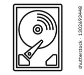 server hard disk icon. outline... | Shutterstock .eps vector #1302693448