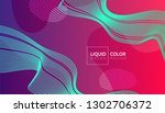fluid color abstract geometric... | Shutterstock .eps vector #1302706372