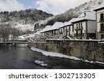 Stock photo snow and river in ochagavia village irati forest 1302713305