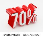 70   70 percent glossy red... | Shutterstock . vector #1302730222