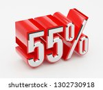 55   55 percent glossy red... | Shutterstock . vector #1302730918