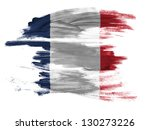 france. french flag  painted on ... | Shutterstock . vector #130273226