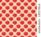 raspberries seamless pattern | Shutterstock .eps vector #130273616