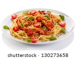 Pasta With Meat  Tomato Sauce ...