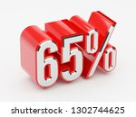 65   65 percent glossy red... | Shutterstock . vector #1302744625