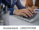 business people meeting design... | Shutterstock . vector #1302747358