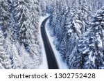 aerial view on the road and... | Shutterstock . vector #1302752428