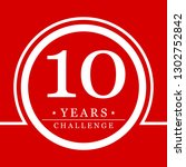 10 years challenge red... | Shutterstock . vector #1302752842