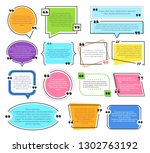 texting boxes. quote text... | Shutterstock .eps vector #1302763192